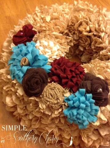 Coffee Filters Wreath Tutorial