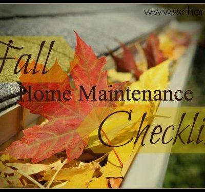 Fall 101: Home Maintenance Checklist