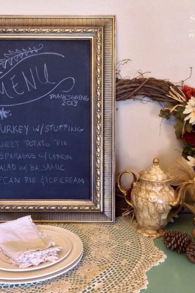 Quick and Easy Picture Frame Chalkboard