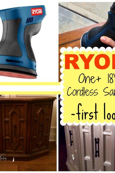 First Look: RYOBI Cordless Orbital Sander