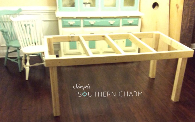 2x4 farmhouse table simple southern charm for Farmhouse table plans with x legs