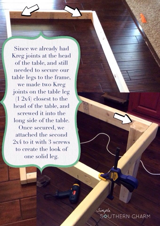 Kreg jig table legs