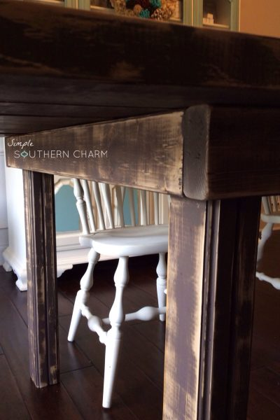 2×4 farmhouse table