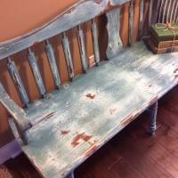 Milk paint deacons bench