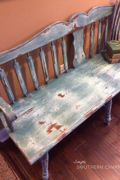Worn Seat Deacon's Bench