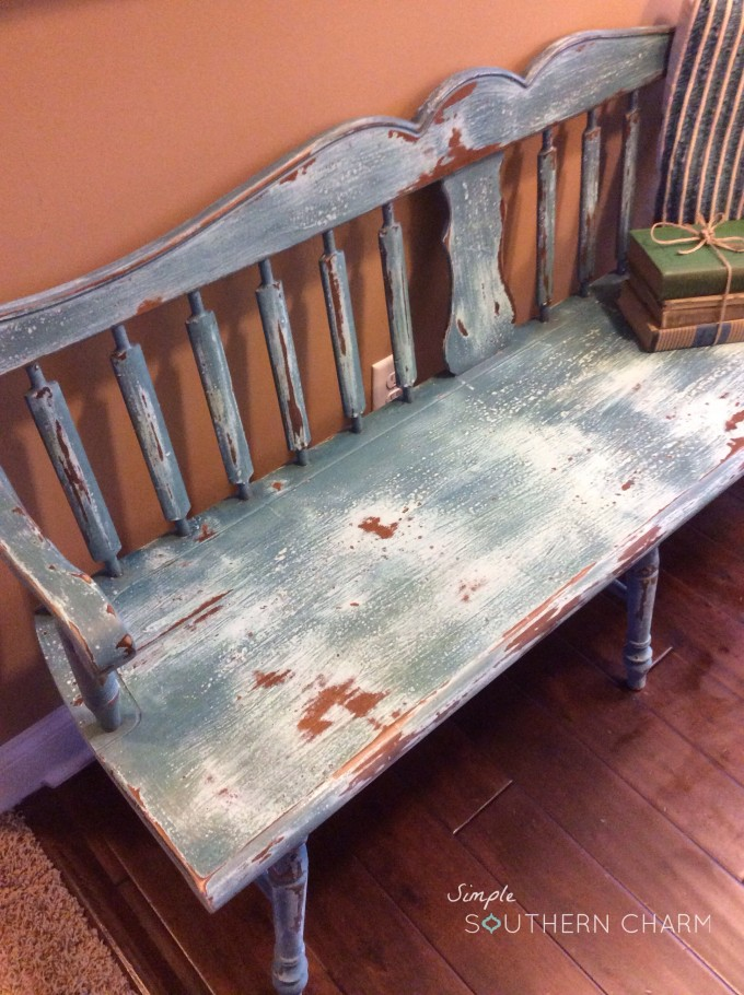 Milk paint deacons bench
