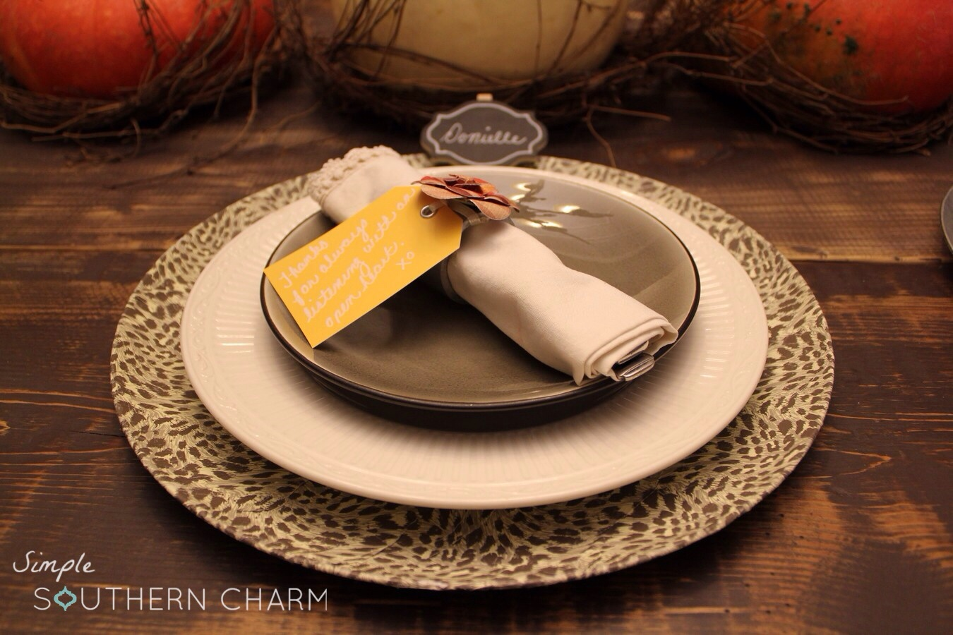 diy charger plates simple southern charm