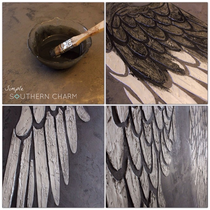 Fantastic Angel Wings Stencil on Canvas | Simple Southern Charm OW03